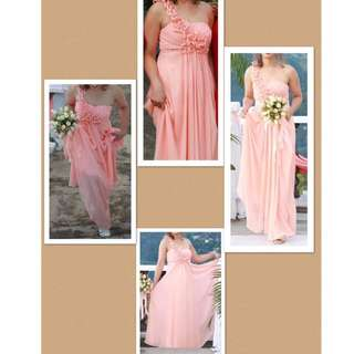 Peach Gown ( worn once only )