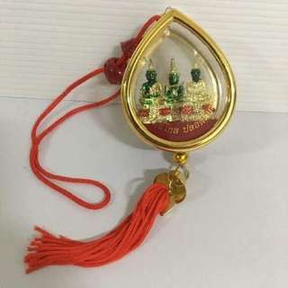 Car Hanging Blessed Amulet Emerald Buddha Wat Prakaew Safe Prevent Auto Accident