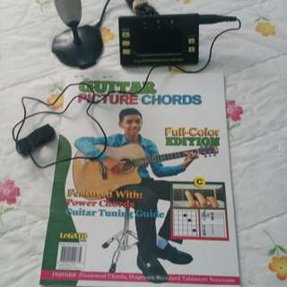Guide books for guitar and cherub metronome tuner wmt-2306