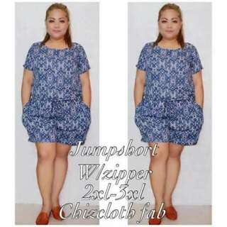Jumpshort with Zipper Plus Size