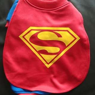 Superman costume for small dog