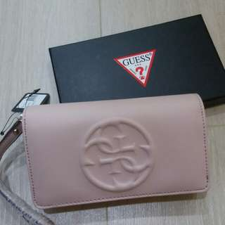 GUESS classic rosy clutch wallet