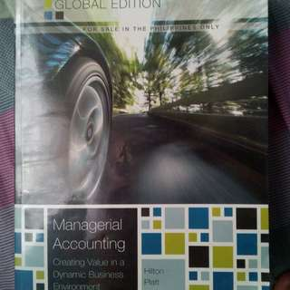 Managerial Accounting by Hilton and Platt