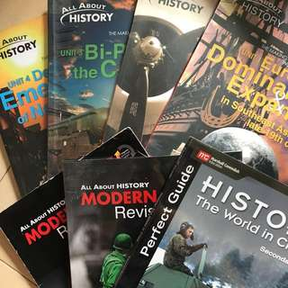 Secondary school history textbooks and guidebook