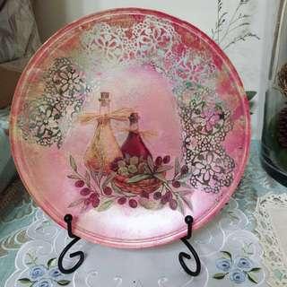 🚚 歐風手工繪製高級盤飾
