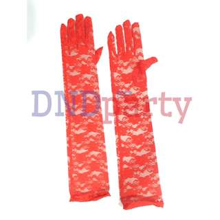 Red Lace Gloves (Long)