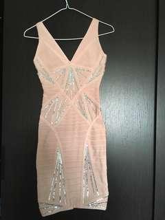 Herve ledger pink dress