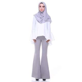 Flare Bell Pants (Gray)