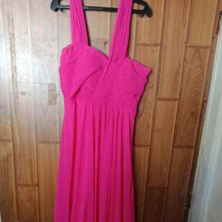 Fuschia pink long dress/gown