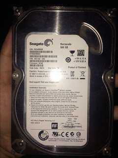 SEAGATE BARRACUDA HARD DRIVE 500GB