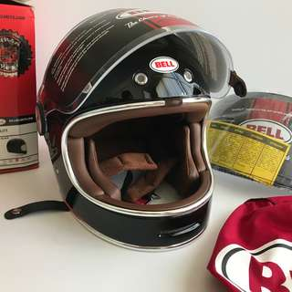 Helmet + 2 x Visor, Bell Bullit helmet with both dark and clear visor.