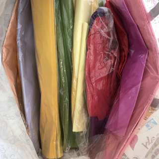 Assorted colors of Tissue paper