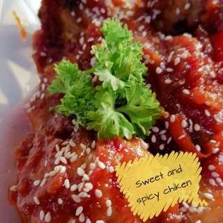 Sweat and spicy chiken