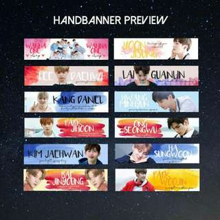 WANNA ONE HANDBANNER