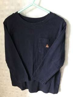 Baby GAP 4T Long Sleeve T-Shirt Pullover (Navy Blue)