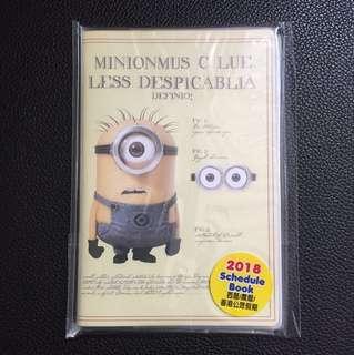 2018 Minionmus Schedule book