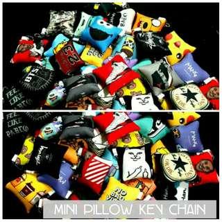 Mini pillow key chain