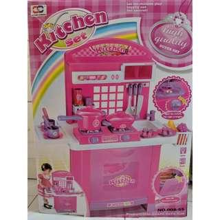 巨型 粉紅色 女孩 煮飯仔玩具套裝