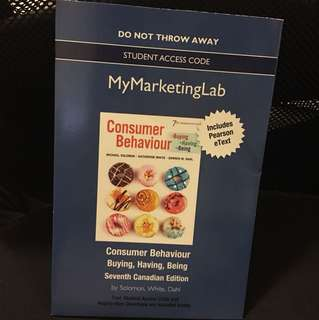 Consumer behaviour buying having being mymarketinglab student access code with eText
