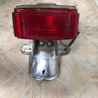 RXK rear mudguard and tail light (stock)