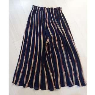 COPPER striped culottes