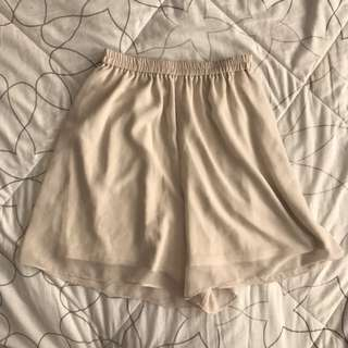 Uniqlo chiffon long shorts