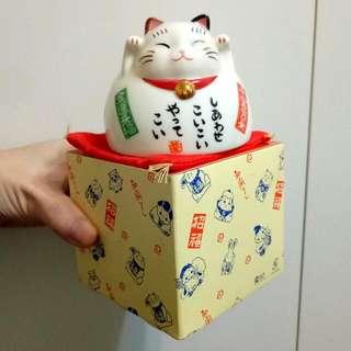 日本帶回 招財貓陶瓷杯