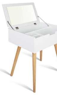 NEW IN BOX - SLIMLINE MAKE UP DRESSER AND MIRROR - WHITE