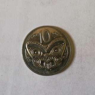 New Zealand 1987 10¢ coin