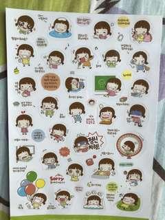 超可愛韓式貼紙(包郵)