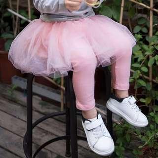 🦁Instock - pink tutu legging, baby infant toddler girl children sweet kid happy abcdefg