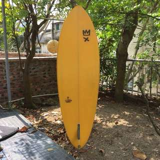 Handcrafted surf board made in Lisbon, Portugal