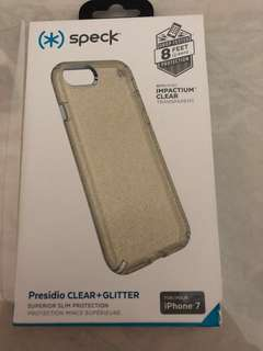 Speck presidio clear + glitter (clear) for iphone 7/8
