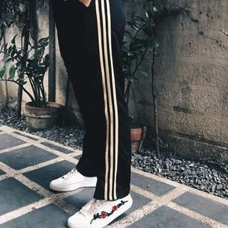 Track Pants with 3 Dark Yellow / Mustard Stripes