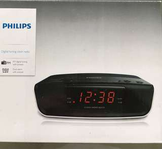 Brand New Philips Digital Clock Radio