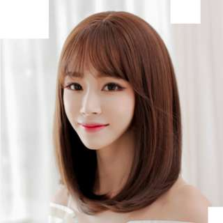 BEST-SELLING Song Hye-Kyo Korean Shoulder-Length Air Fringe Full Wig for Daily Use (Natural Black/Chocolate Brown/Caramel)