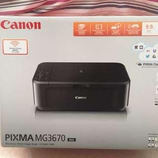 CANNON PIXMA MG3670 打印機