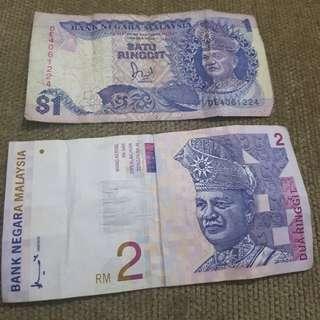Duit kertas n duit syiling lama