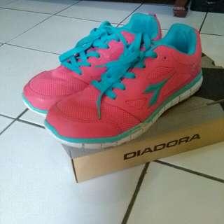 Sepatu Running Diadora Valter Women Pink Turqoise