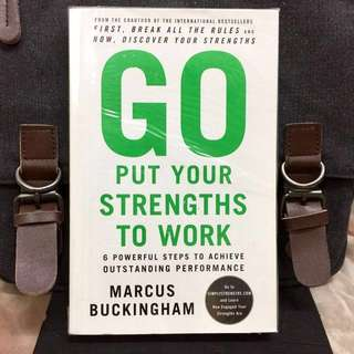 # Highly Recommended《New Book Condition + How To Hone And Apply Your Strengtjs For Success In Work》Marcus Buckingham - GO PUT YOUR STRENGTHS TO WORK : 6 Powerful Steps to Achieve Outstanding Performance