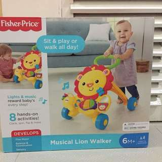 Musical Lion Walker baru in box