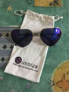 BNEW GSunnies Heart Aviator Flash Lens