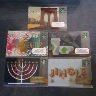 Starbucks Cards from the US