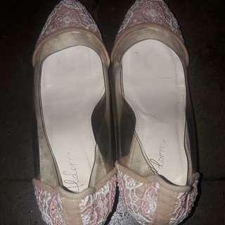 Wedges wanita lace aldorra