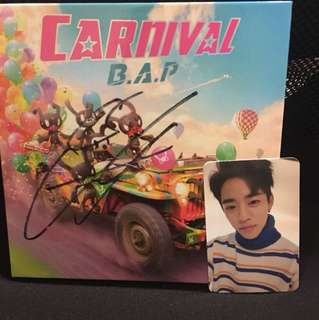 B.A.P album signed by jongup