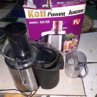 Slightly used koji power juicer model:sk168