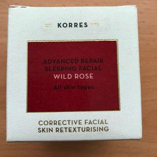 korres advanced repair sleeping facial wild rose