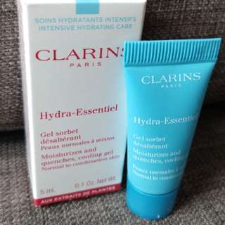 Clarins Hydra-Essentiel Moisturizes & Quenches, cooling gel 5ml