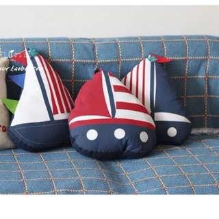 Original Hand Made Cushion Yatch or Fish design