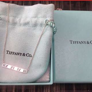 Tiffany 925 Atlas necklace 100% real with receipt 真品有單